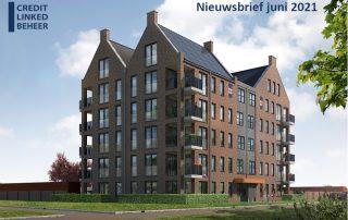 Artist impression huurappartementen Hasselt - project Wachters in de Weide